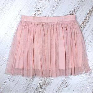 Forever 21 Blush Tulle Skirt Halloween Ballerina L